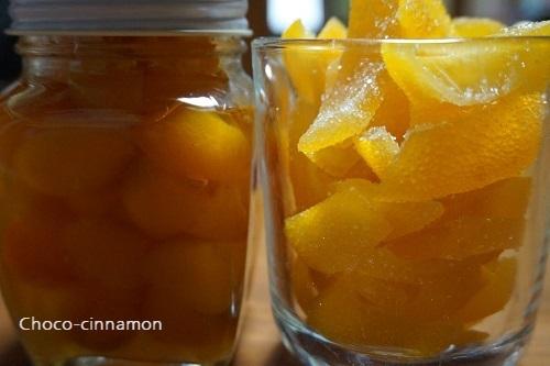 金柑の甘煮、オレンジピール.JPG