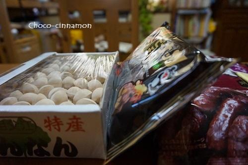 銀杏、かりんとう、ピーナッツチョコレート.JPG